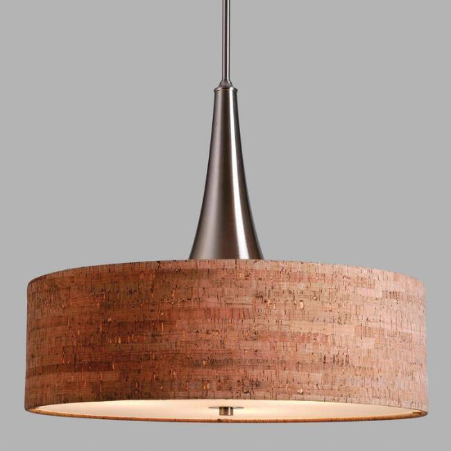 pendant light with cork