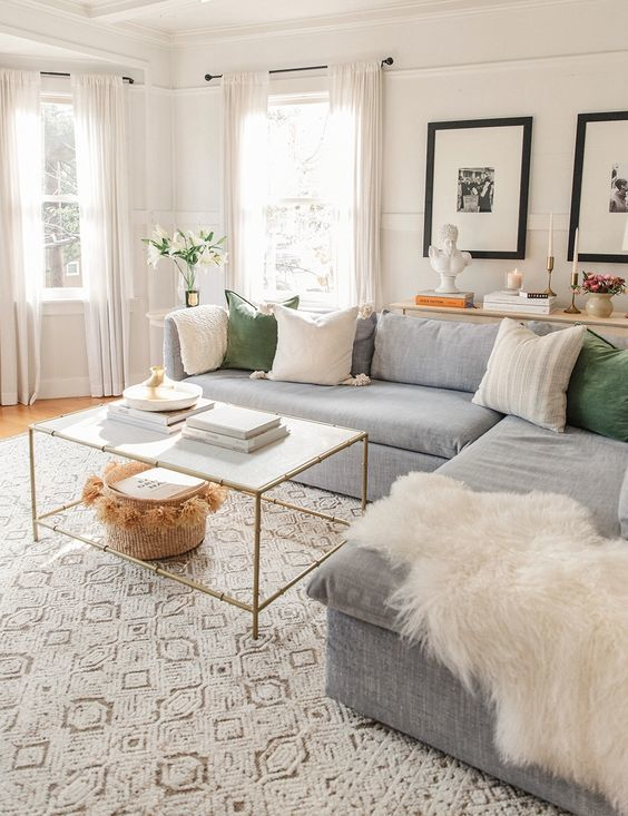 living room furniture and decor