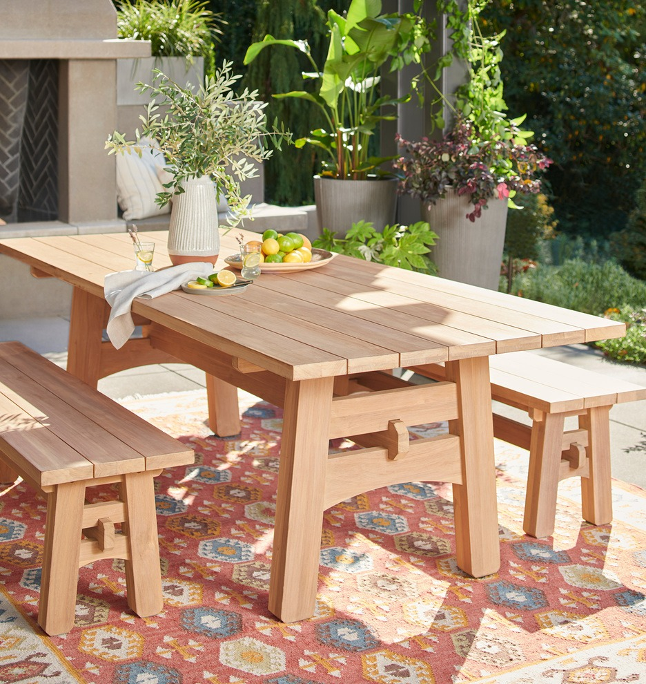 outdoor dining table set for guests